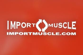 Import Muscle Sticker